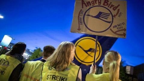 El éxito de la huelga de Lufthansa