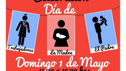 Celebración Triple: Día de los trabajadores/as, Día de la madre y Día del Padre