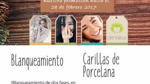 Promoción de Blanqueamiento y Carillas de Porcelana, en nuestro convenio con Dentálica.