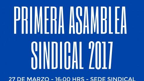 Primera Asamblea Sindical 2017