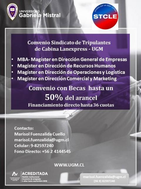 Nuevo convenio con Universidad Gabriela Mistral: Hasta 50% de becas.