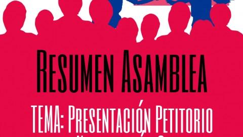 Resumen Asamblea del 4 de Octubre