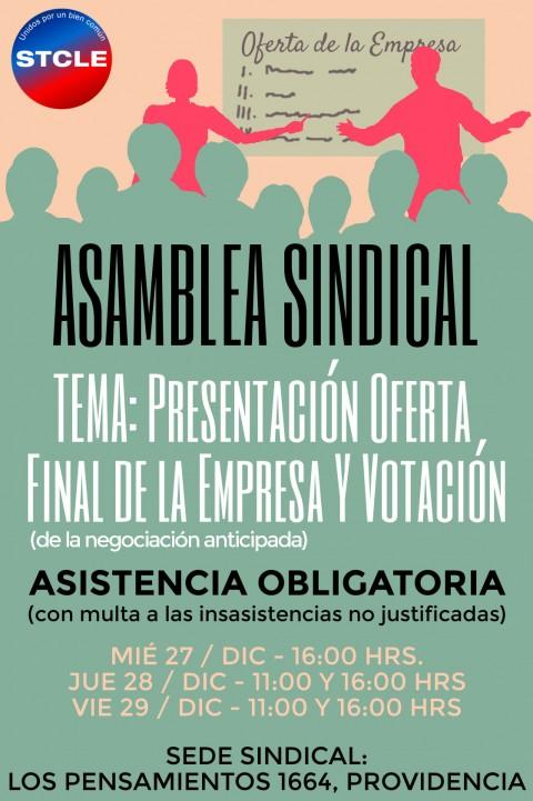 Asamblea Extraordinaria: Presentación Oferta Final de la Empresa.