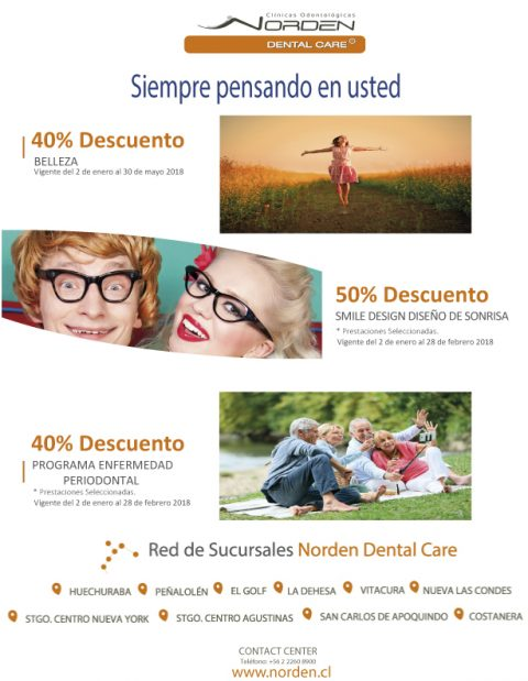 Ofertas especiales para Enero con nuestro convenio dental Norden