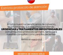 Urgencias y tratamientos impostergables en Proh