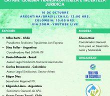 Invitación a Foro: LATAM: Quiebra Transfronteriza e Incerteza Jurídica. Viernes 16/OCT