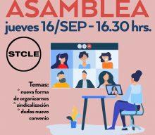 Asamblea: Jueves 16 de Sep. 16:30 hrs.